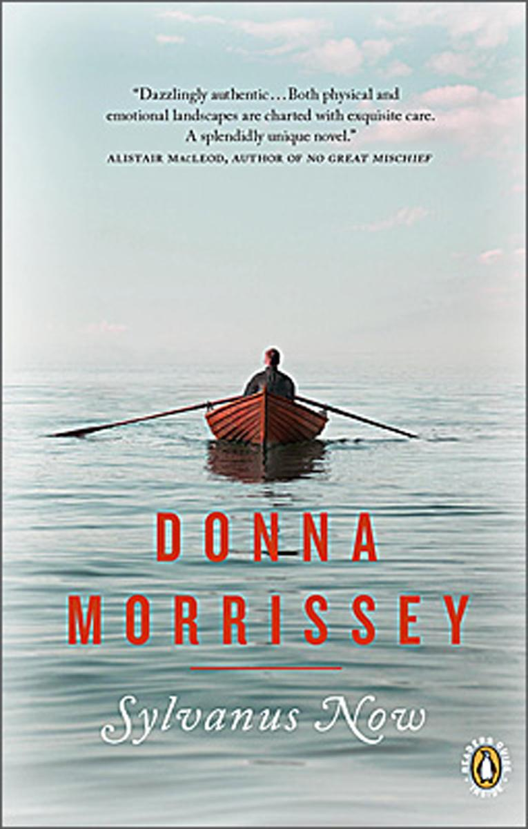 Cover of Sylvanus Now showing man alone in Dory, paddling into the Atlantic